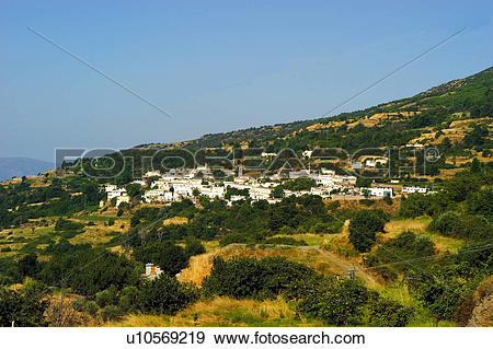 Stock Photograph of Spain, Andalucia, Andalusia, Granada, Pitres.