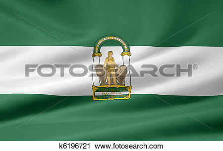 Clipart of Flag of Andalusia.