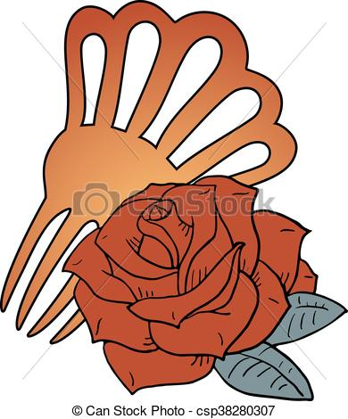 Vector Clipart of peineta of Andalusia illustration.