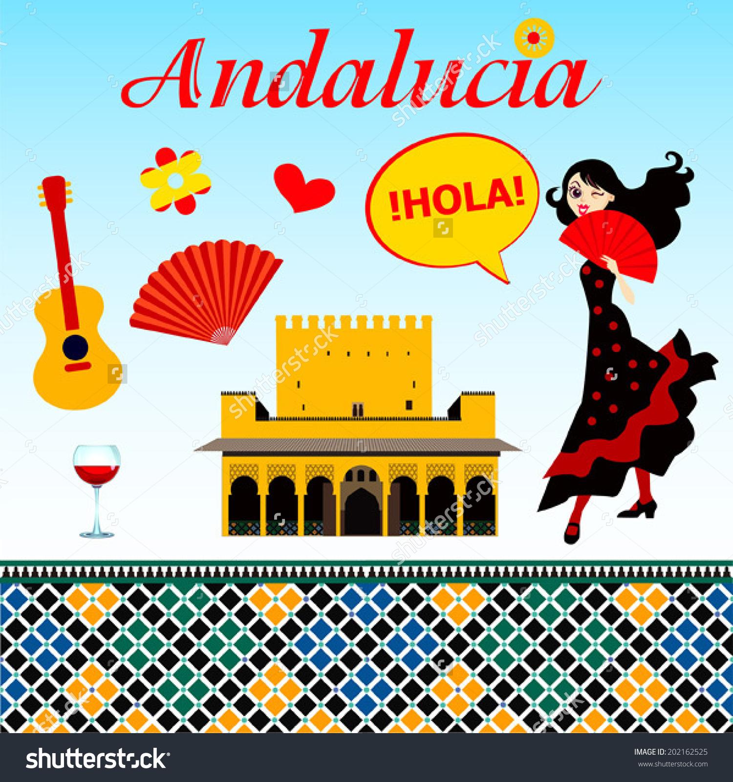 Andalucia Vector Set Stock Vector 202162525.
