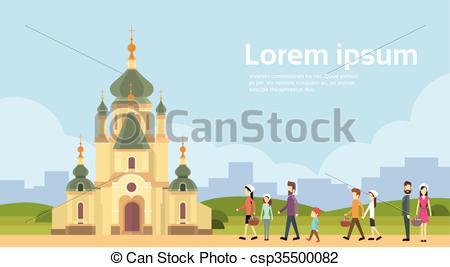 costruzione, gruppo, spazio, persone, chiesa, andare, copia, cappella.