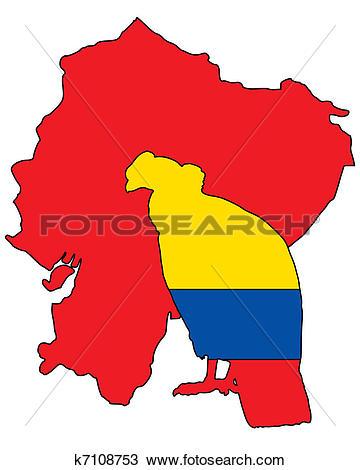 Clipart of Andean Condor Ecuador k7108753.