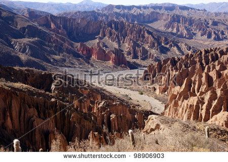 Desert, Andean Landscape Near Tupiza, Bolivia Stock Photo 98906903.
