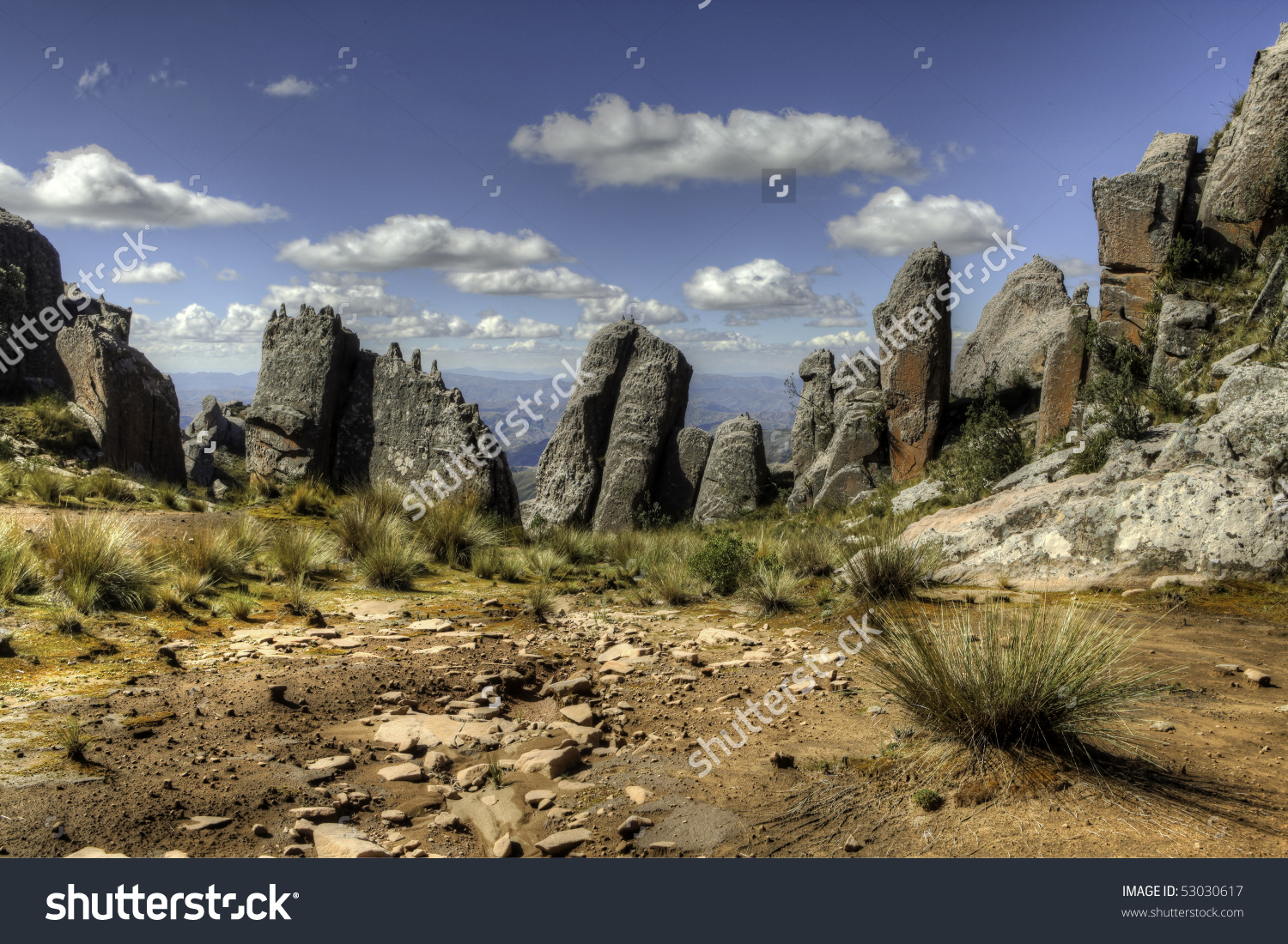 Andes Scenic Landscape Beautiful Blue Sky Stock Photo 53030617.