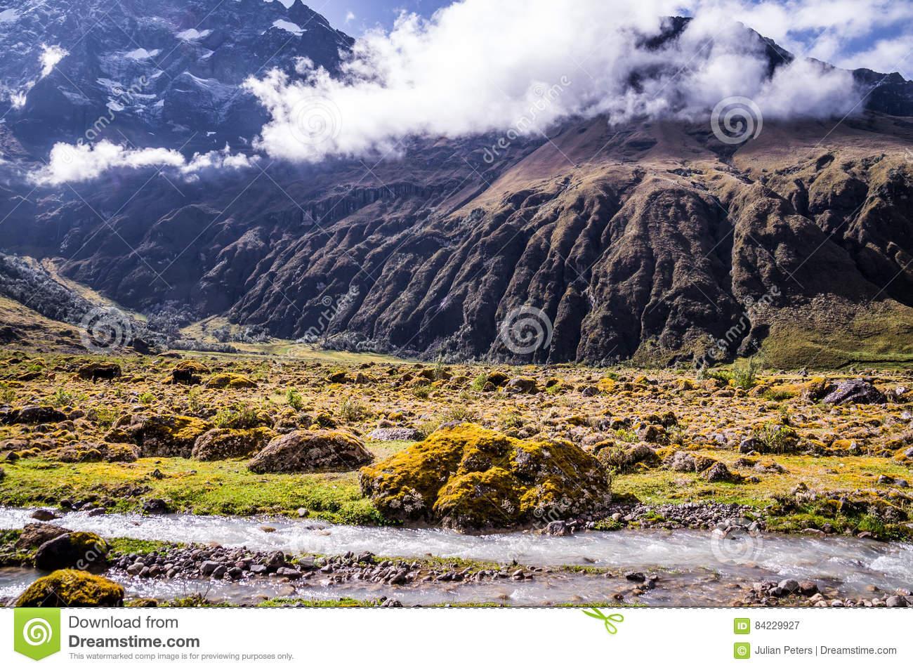 Andean Landscape Near Riobamba, Ecuador Stock Photo.