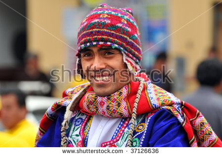 Peruvian People Stock Photos, Royalty.