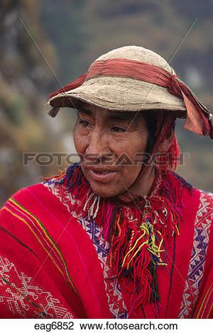 Stock Photo of A QUECHUA porter on the INCA TRAIL to MACHU PICCHU.