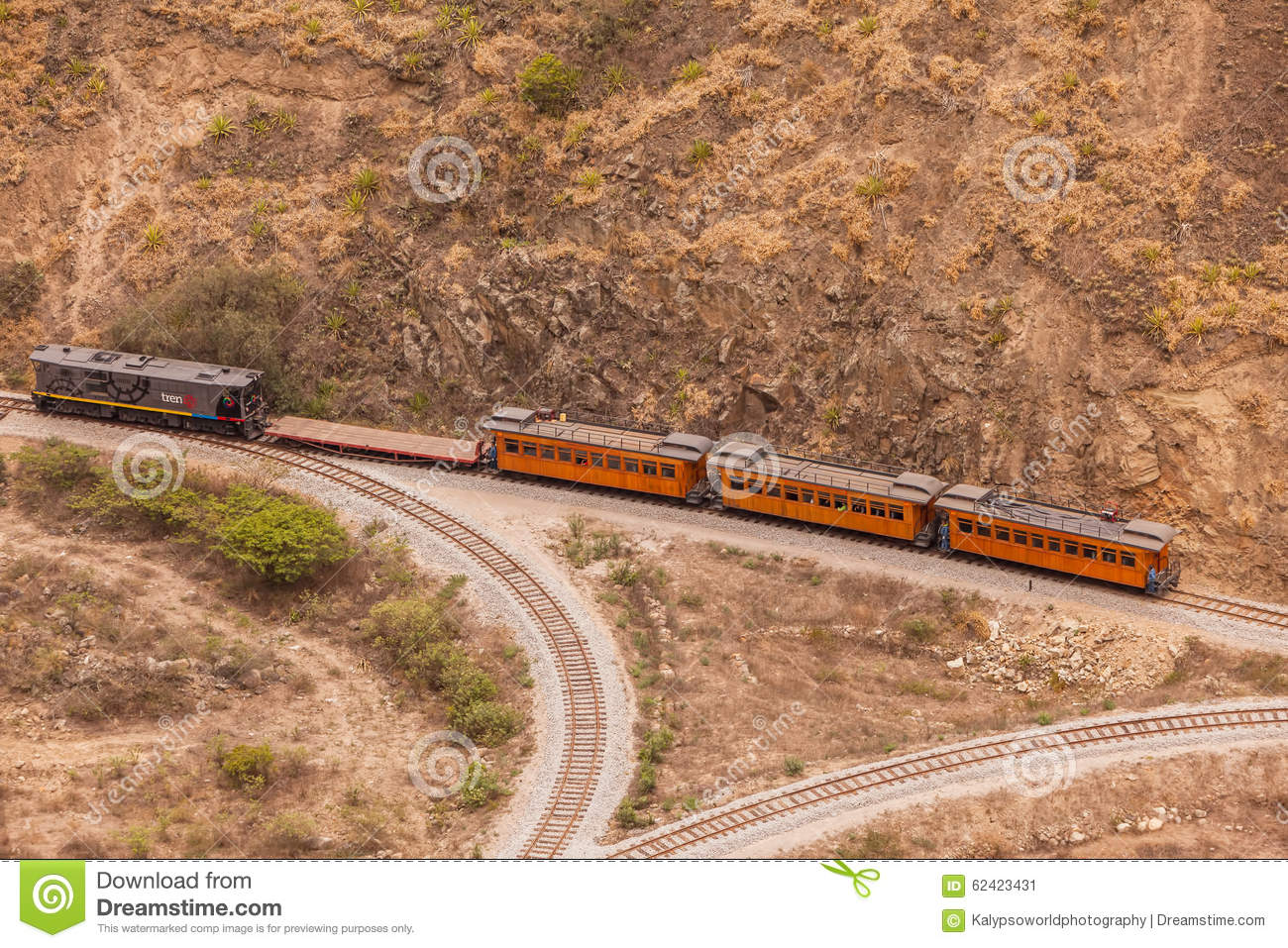 Train Ride In South America Editorial Photo.