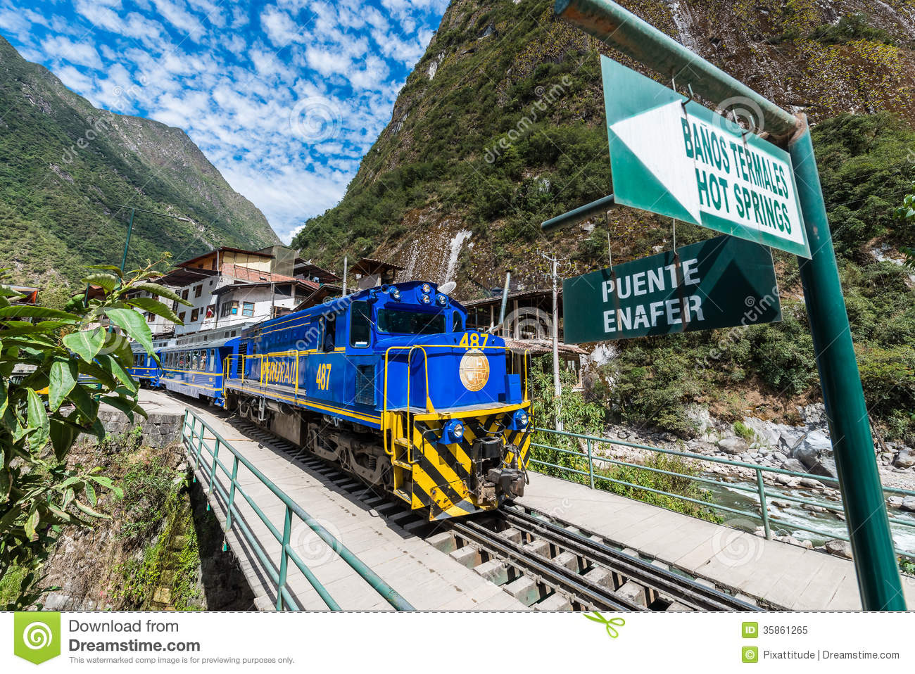 Perurail Train Peruvian Andes Cuzco Peru Editorial Image.