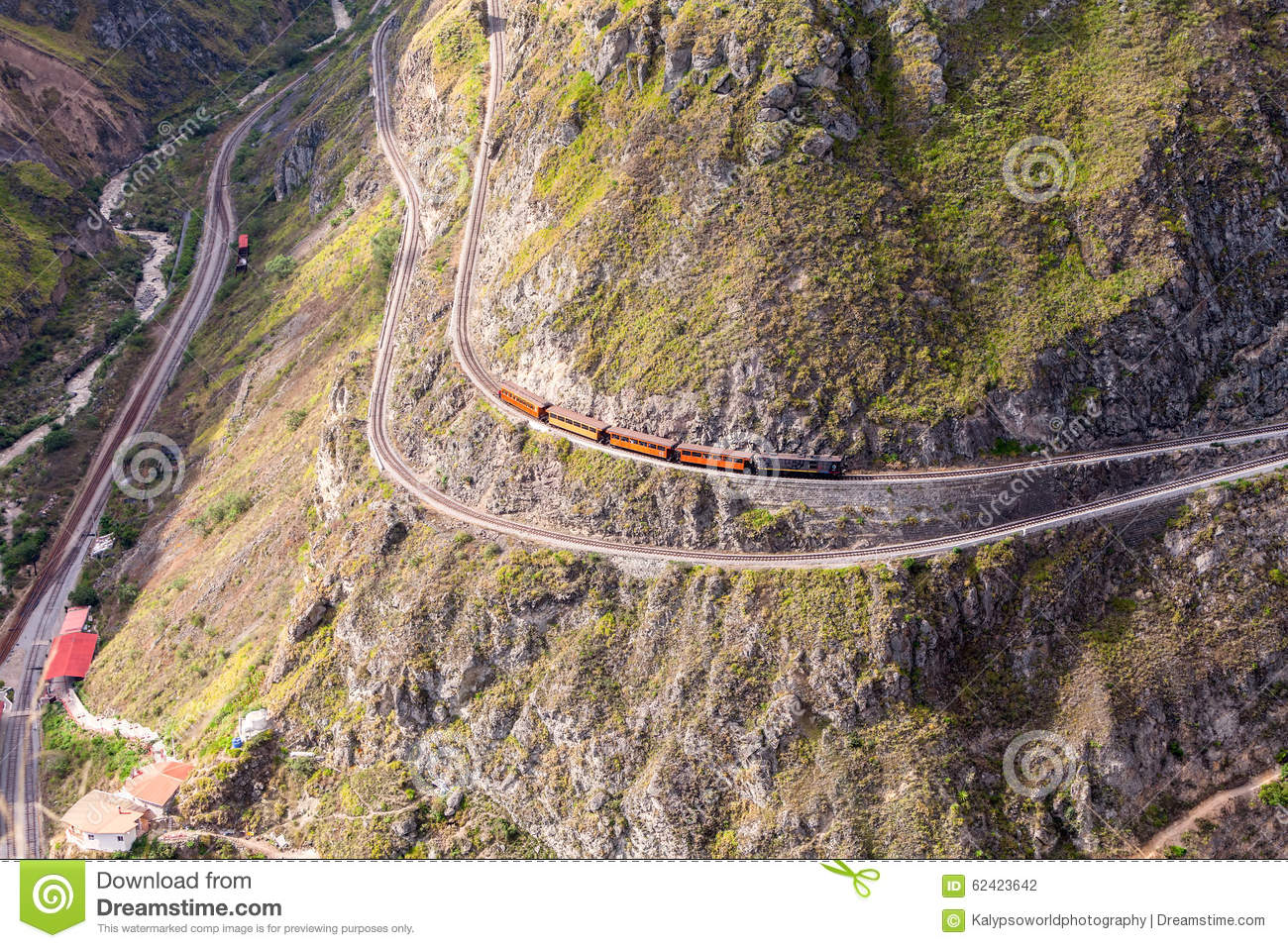 Train Ride Through The Andes Mountains Stock Photo.
