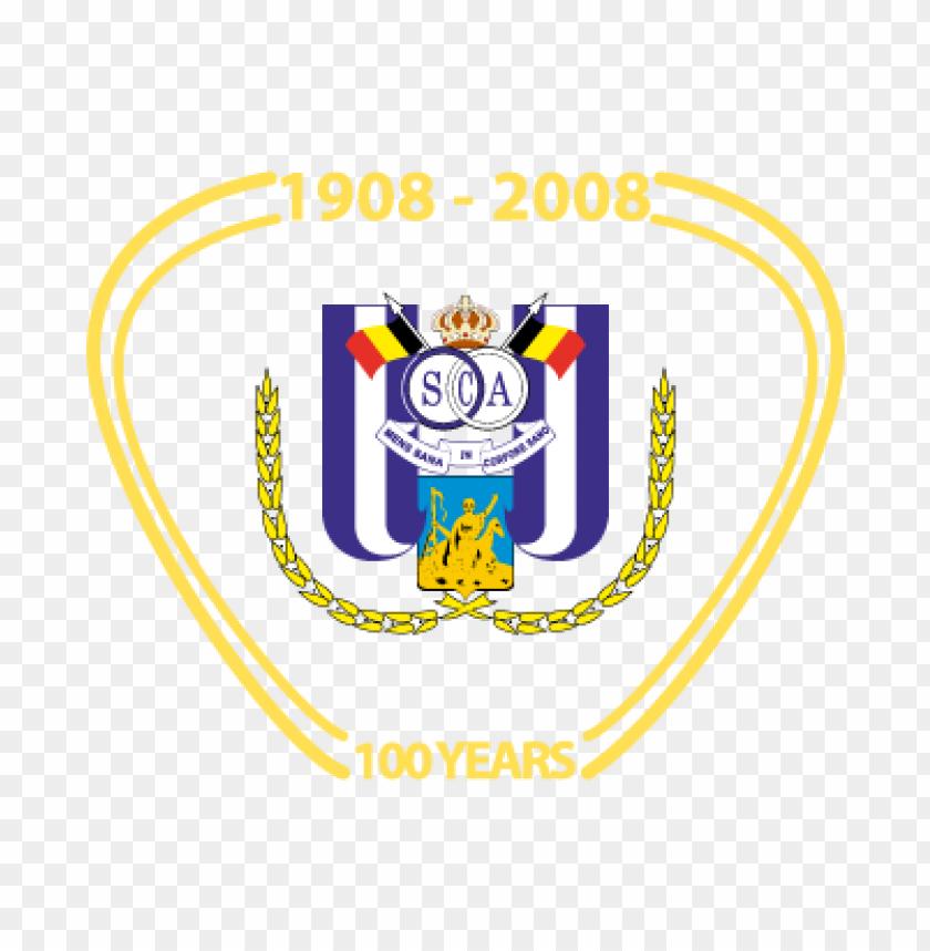 rsc anderlecht (100 years) vector logo.
