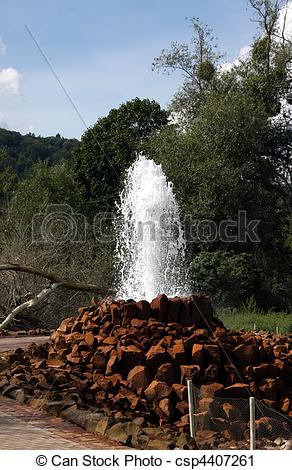 Stock Photography of The Andernach Geyser.