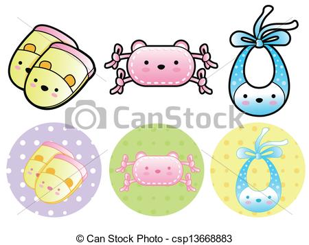 Baby Mittens Clipart.