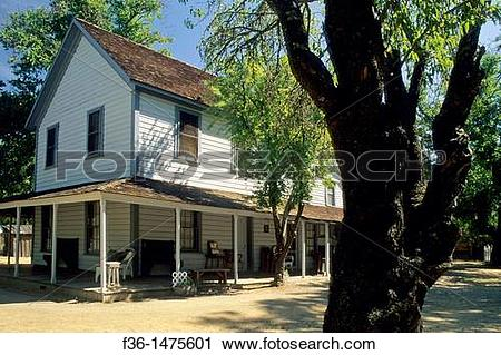 Stock Photography of Ranch house, Anderson Marsh S H P  near Lower.