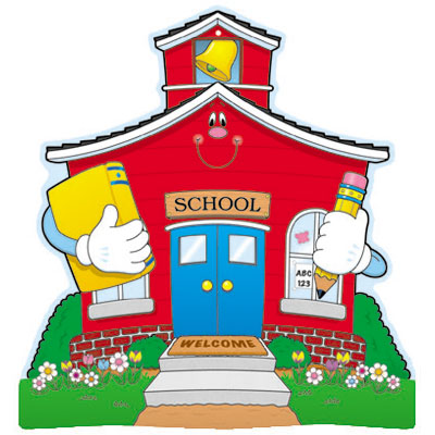 Large school house clipart.