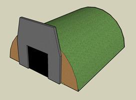 Air raid shelters.