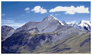 Andes Mountains USGS Clip Art Download.