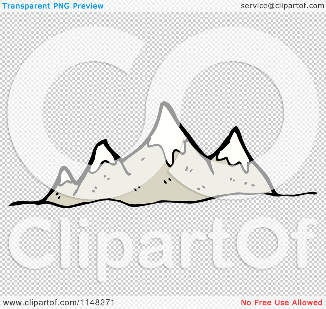 Cartoon of a Mountain Range.
