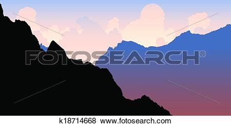 Clip Art of Andes Morning Light k18714668.