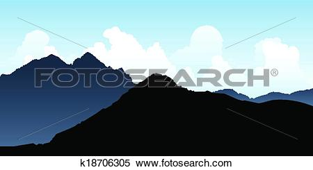 Clipart of Andes Mountains k18706305.