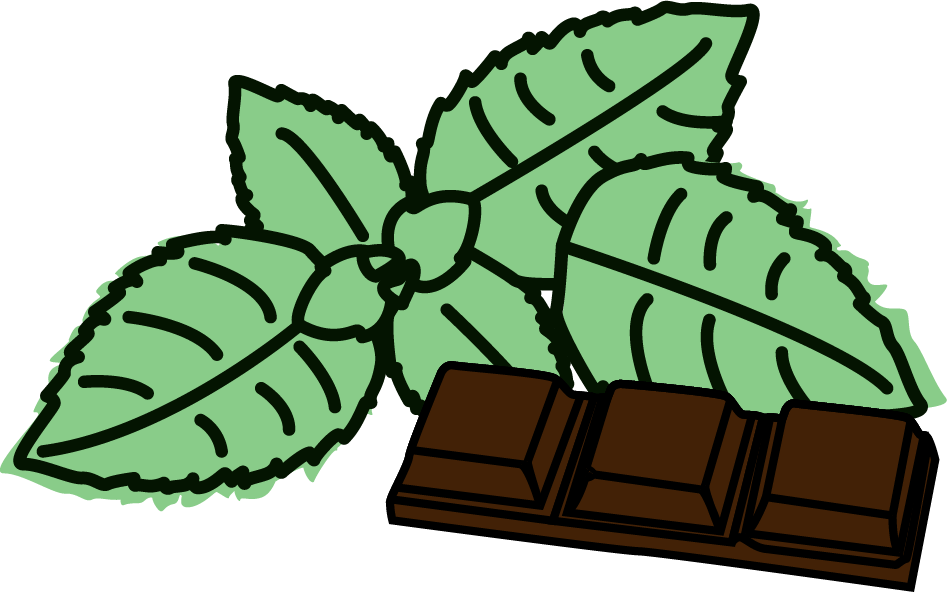 Peppermint clipart chocolate mint, Peppermint chocolate mint.