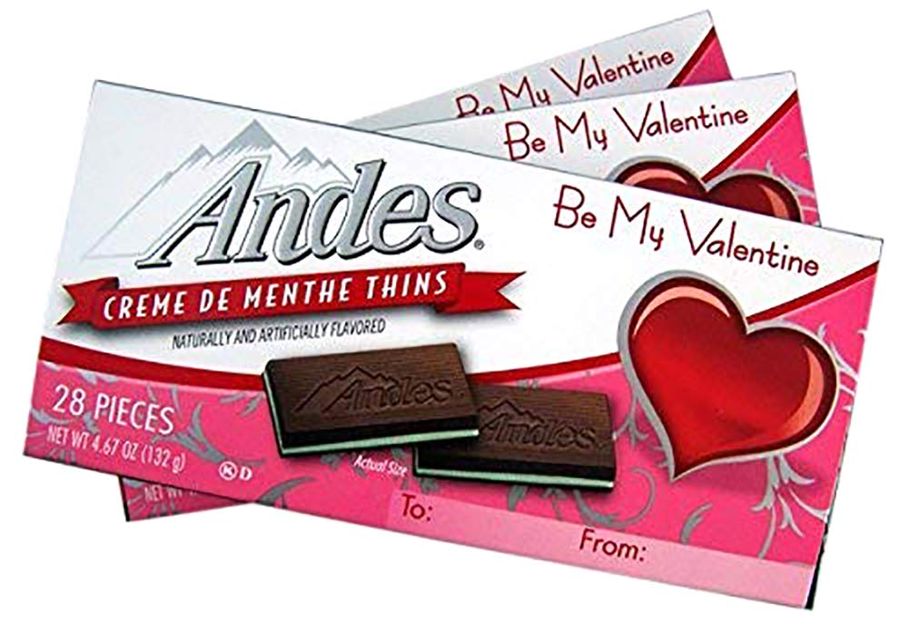 Amazon.com : Valentine\'s Day Andes Creme De Menthe Mints.