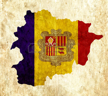 Andorra Map Clipart.