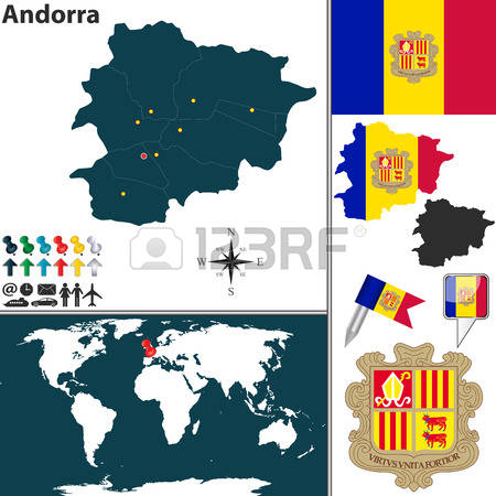 416 Map Andorra Stock Vector Illustration And Royalty Free Map.
