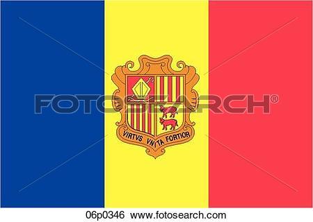 Clip Art of andorra flag 06p0346.