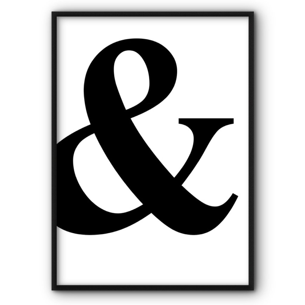 Ampersand Canvas Print.