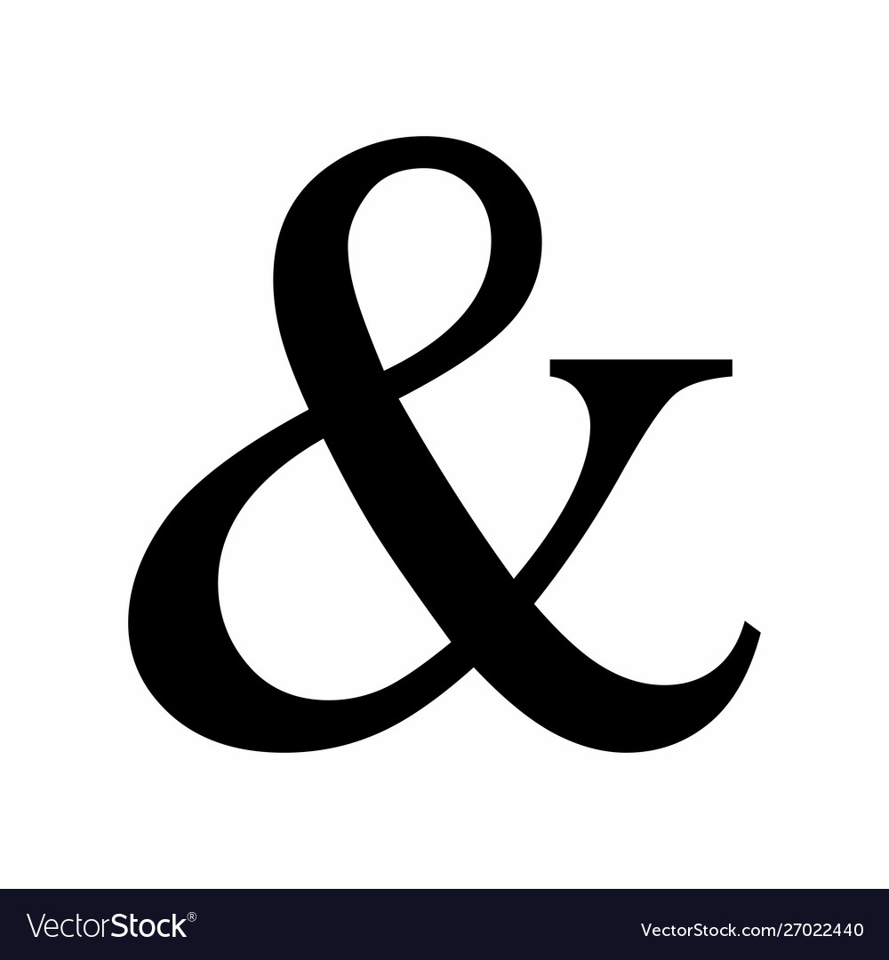 Black ampersand symbol.