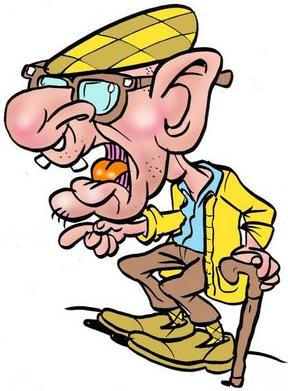 Funny Old Man Clipart.