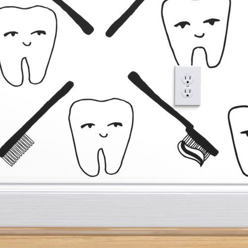 Wallpaper Happy Teeth.