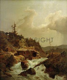 Landscape in the norwegian mountain (also known as Norwegische.