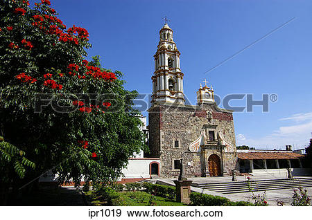 Stock Photograph of San Andreas Catholic Church, landmark of.