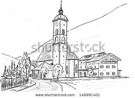 Medieval Church Stock Vectors, Images & Vector Art.