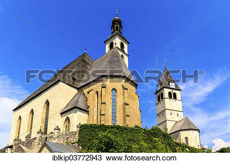 "Stock Photo of ""St. Andreas Parish Church, Kitzbuhel, Tyrol."