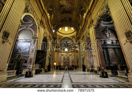 Baroque Church Stock Photos, Royalty.