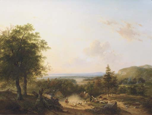 Andreas Schelfhout Works on Sale at Auction & Biography.