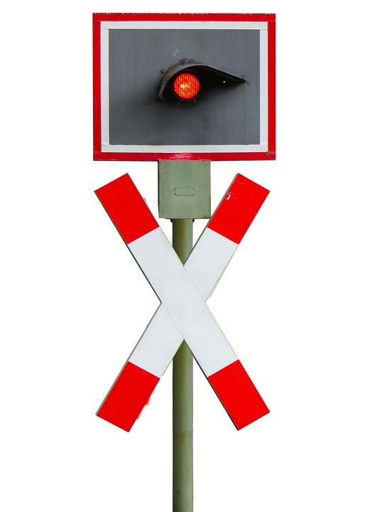 Free photo Traffic Lights Signal Red Andreaskreuz Train.