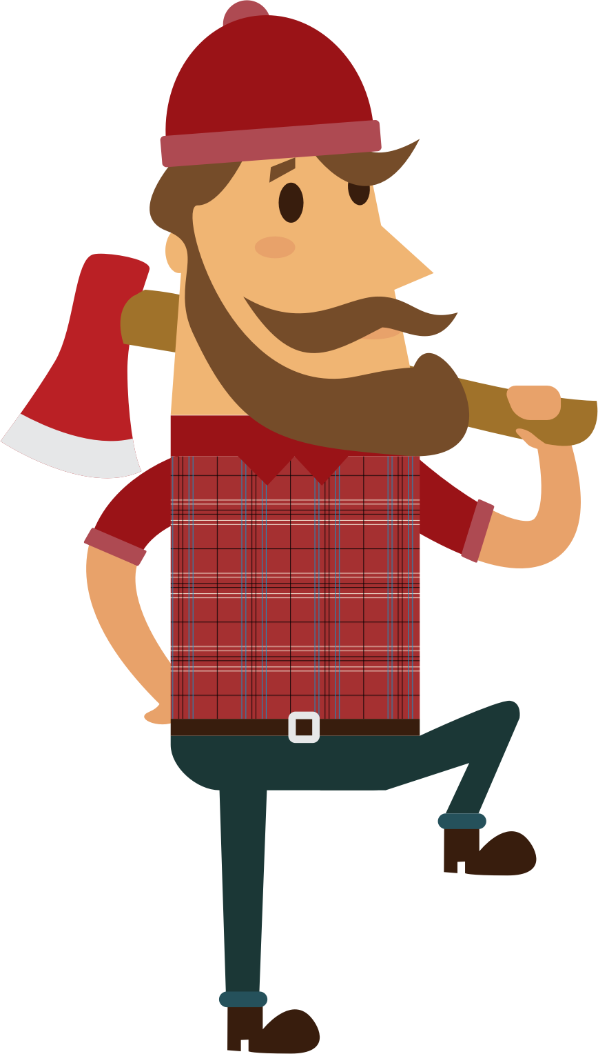 Lumberjack vector clipart images gallery for free download.