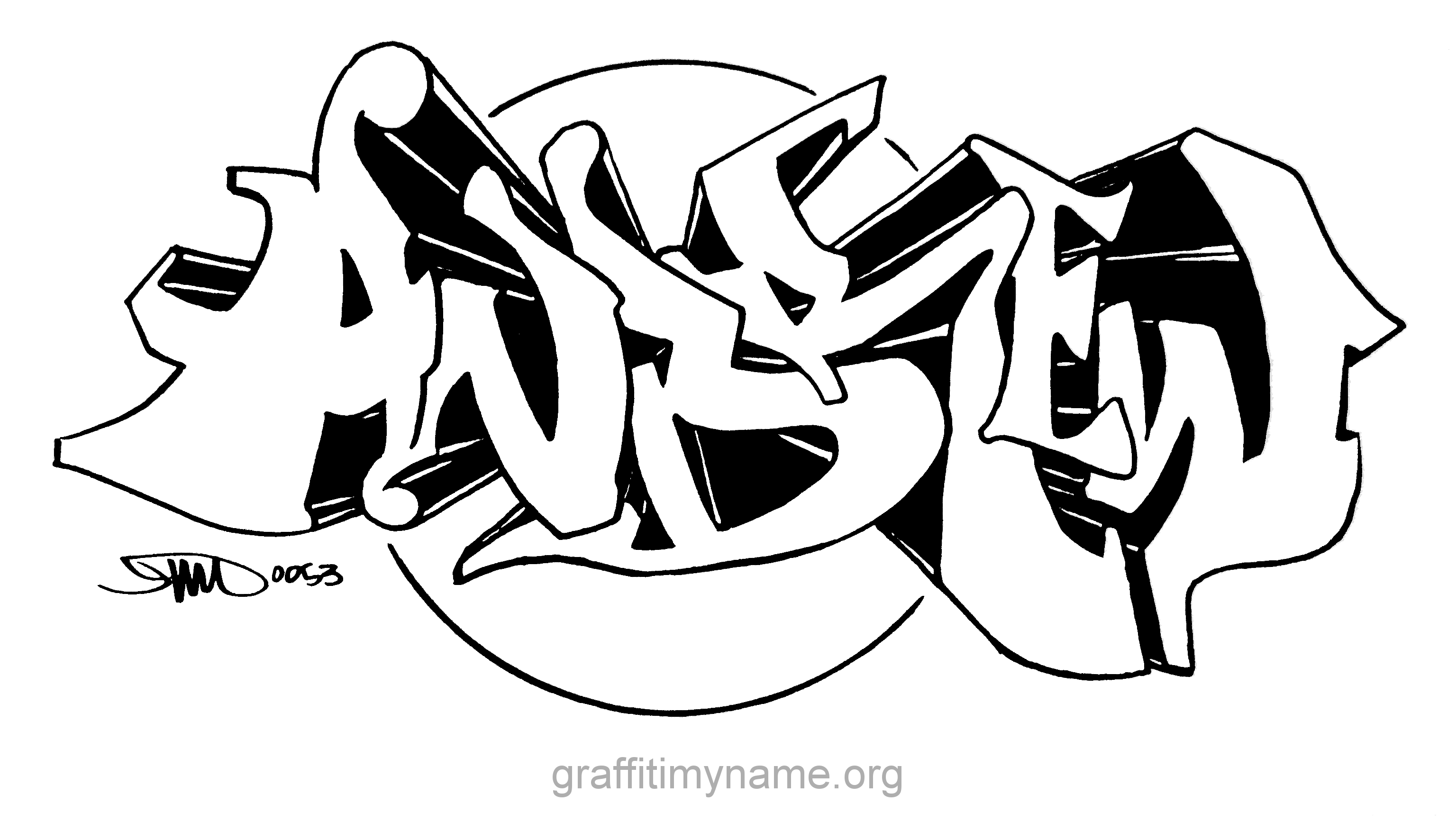 Andrew Graffiti Name Coloring Pages Sketch Coloring Page.