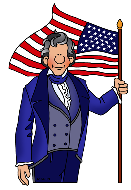 Fourth of July Clip Art by Phillip Martin, Andrew Jackson.