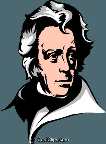 Andrew Jackson Royalty Free Vector Clip Art illustration.