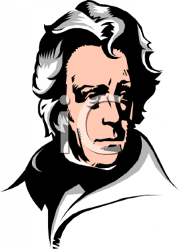 Clipart Picture of President Andrew Jackson.