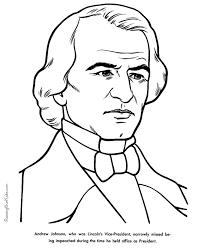 17th US President Andrew Johnson.