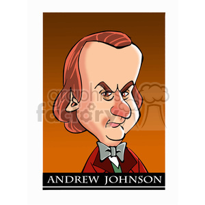 andrew johnson color clipart. Royalty.