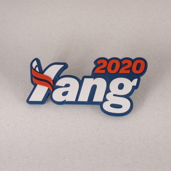 3D Printable Andrew Yang 2020 Logo Fridge Magnet 6\
