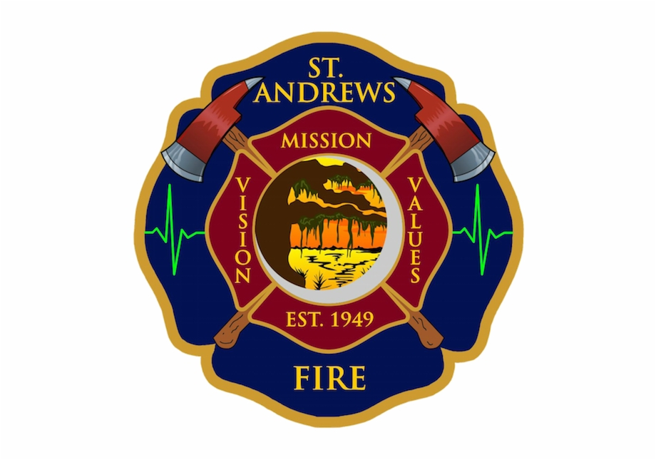 Fd Logo Cut Out St Andrews Fire Department.
