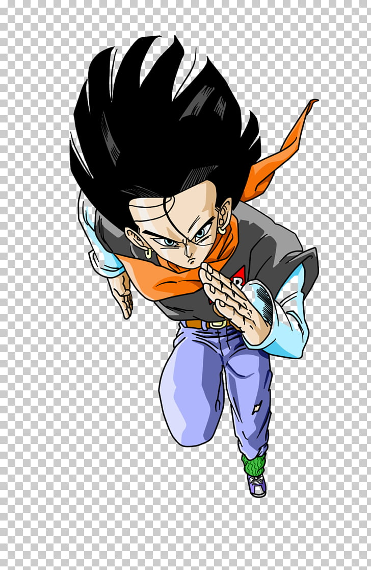 Android 17 Android 18 Vegeta Goku Trunks, Android 17 PNG.